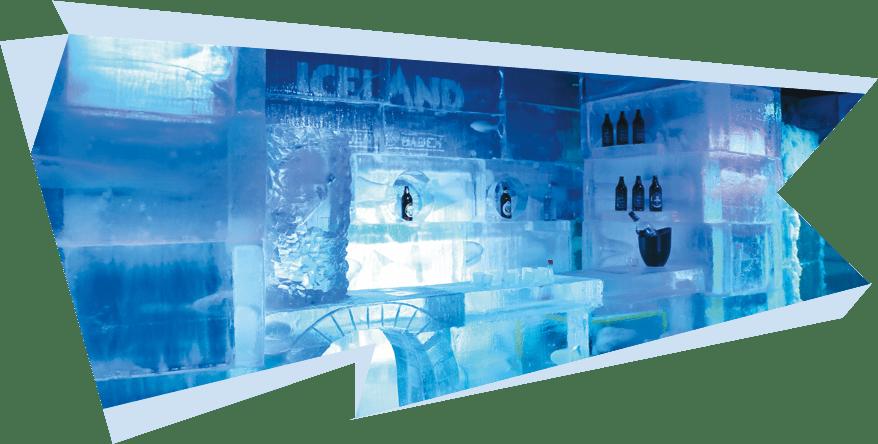 Balcão de gelo no Iceland