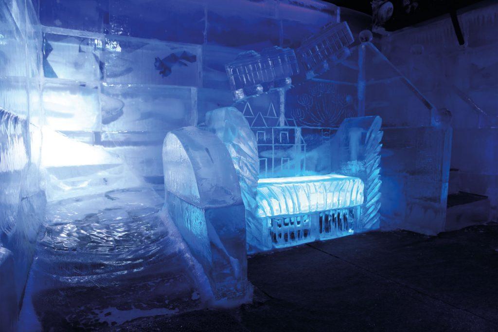 Escorregador de gelo.