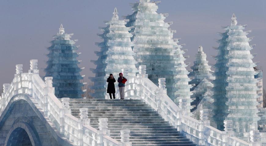 A Origem das Esculturas de Gelo