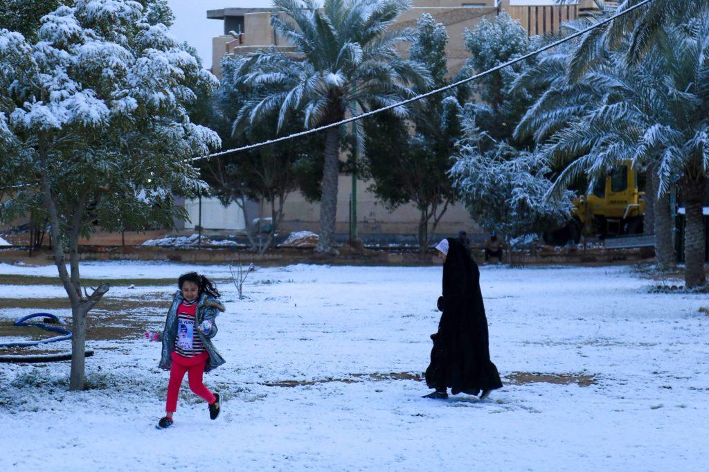 nevasca em Bagdá, no Iraque