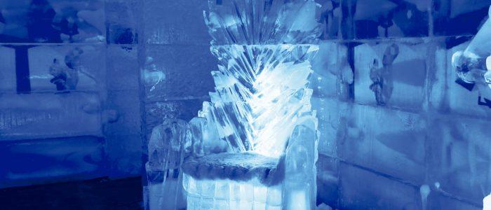 Trono do bar de gelo Iceland